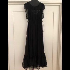 MaxMara silk chiffon flounce dress. Size M. New.